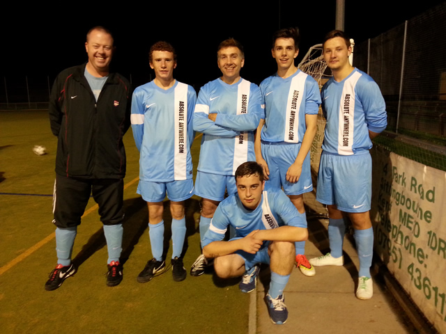 Football team sponsored by Absolute Anywhere